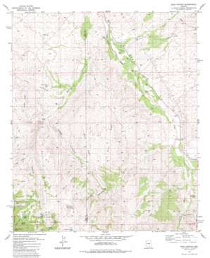 Soza Canyon topo map