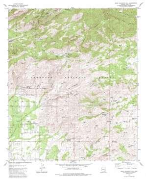 Agua Caliente Hill topo map