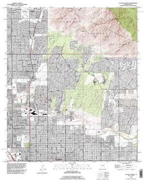 Tucson North topo map