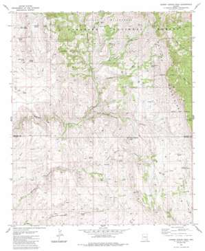 Cherry Spring Peak topo map