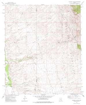 Kielberg Canyon topo map