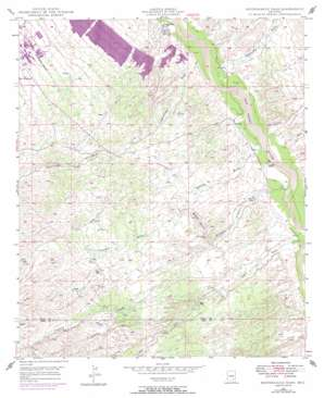 Peppersauce Wash topo map