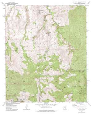 Oak Grove Canyon topo map