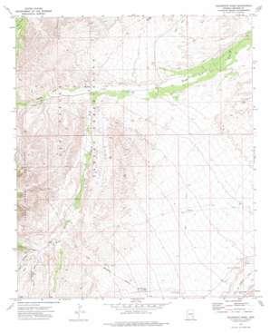 Telegraph Wash topo map
