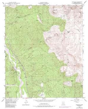 Dudleyville topo map