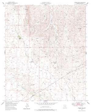 Crozier Peak topo map