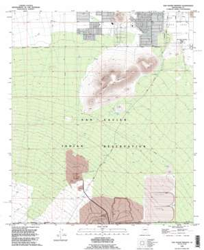 San Xavier Mission topo map