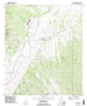 Three Points topo map