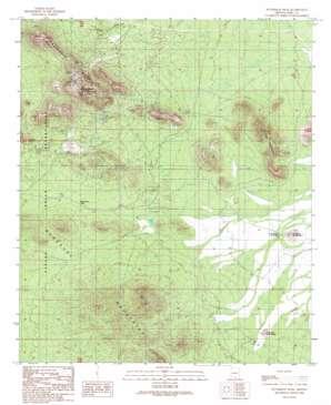 Waterman Peak topo map
