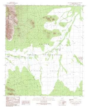 Santa Rosa Mountains Se topo map