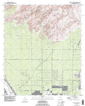 Ruelas Canyon topo map