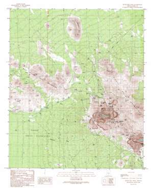 Silver Bell West topo map