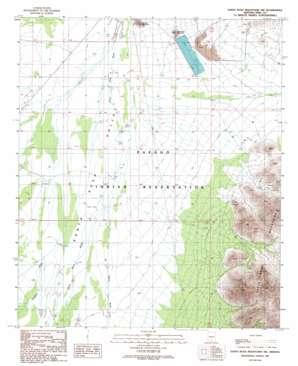 Santa Rosa Mountains Nw topo map