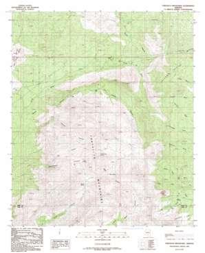 Tortolita Mountains topo map
