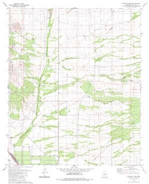 Picacho Pass topo map