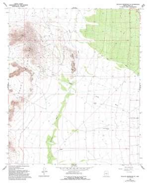 Picacho Reservoir Se topo map