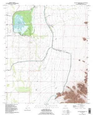 Picacho Reservoir topo map
