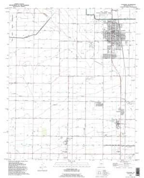 Coolidge topo map