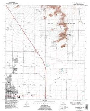 Casa Grande East USGS topographic map 32111h6
