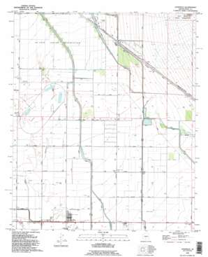 Stanfield topo map