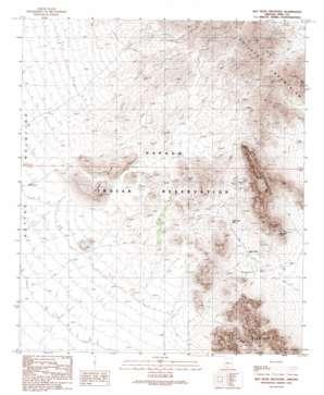 Ben Nevis Mountain topo map
