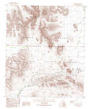 Kino Peak topo map
