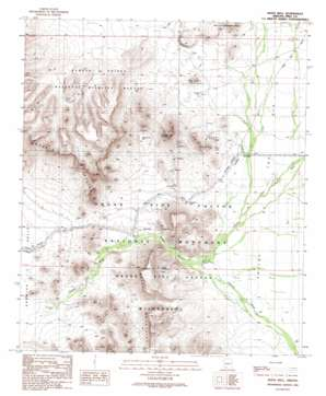 Bates Well topo map