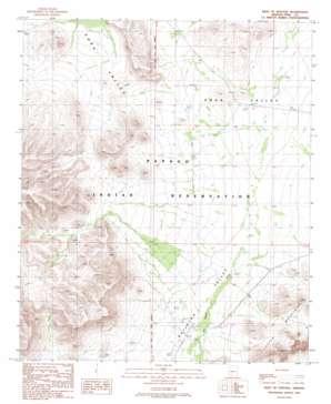West Of Ventana topo map
