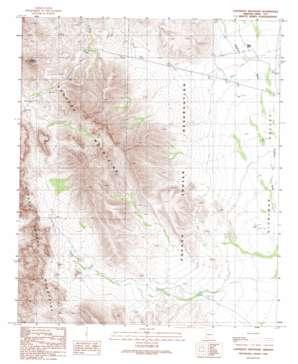 Coffeepot Mountain topo map