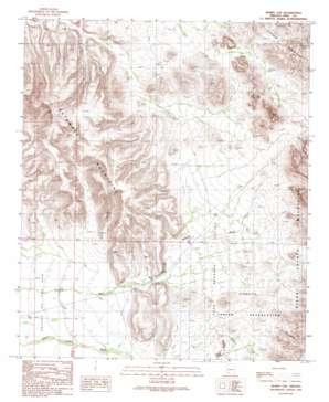 Burro Gap topo map