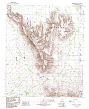 Childs Mountain topo map