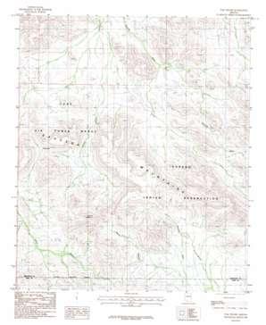 Tom Thumb topo map