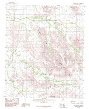 Blue Plateau topo map