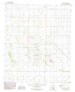 South Of Theba topo map