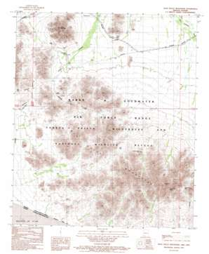 Agua Dulce Mountains USGS topographic map 32113a2