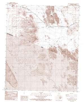 Tule Mountains topo map