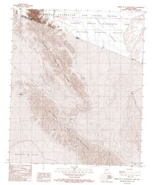 Sierra De La Lechuguilla topo map