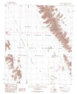 Granite Mountains South topo map