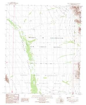 West Of Growler Peak topo map
