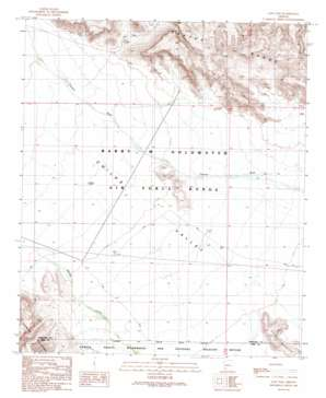 East Pass topo map