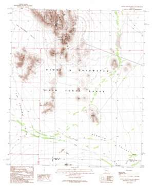 Aguila Mountains SE USGS topographic map 32113e3