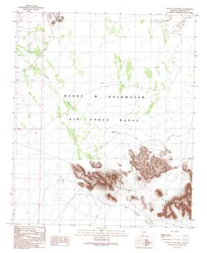 South Of Sentinel topo map