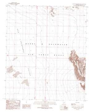 Aguila Mountains Nw topo map