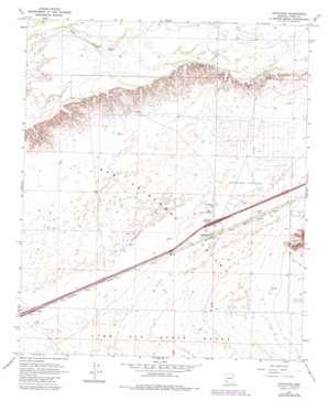 Dateland topo map