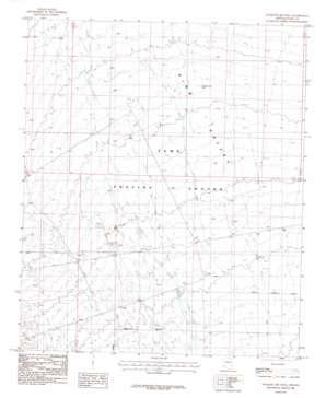 Mesquite Jim Well topo map