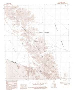 Tinajas Altas topo map
