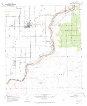 Somerton topo map