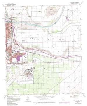 Yuma East topo map