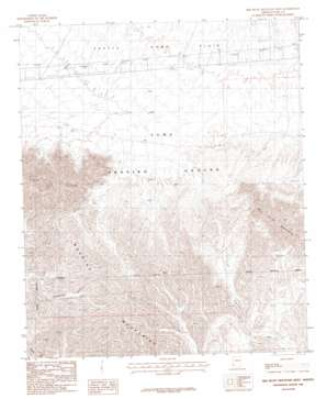 Red Bluff Mountain West topo map