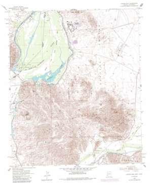 Laguna Dam USGS topographic map 32114g4